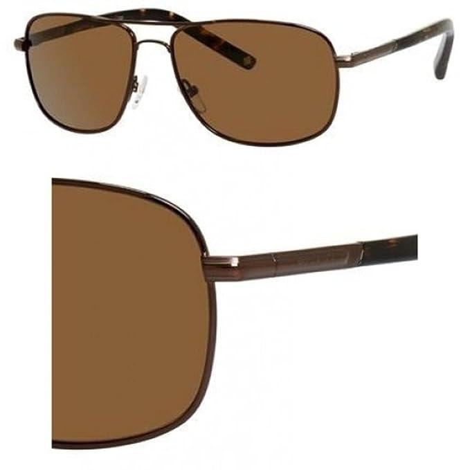 Polaroid Gafas de sol para hombres 58/15/135 Lente polarizada marrón/marrón marrón: Amazon.es: Ropa y accesorios