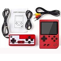 WESSD Mini handhållen spelkonsol spelspelare, 400-IN-1 dubbel spelkonsol, retro spelspelare med 400 klassiska FC-spel…