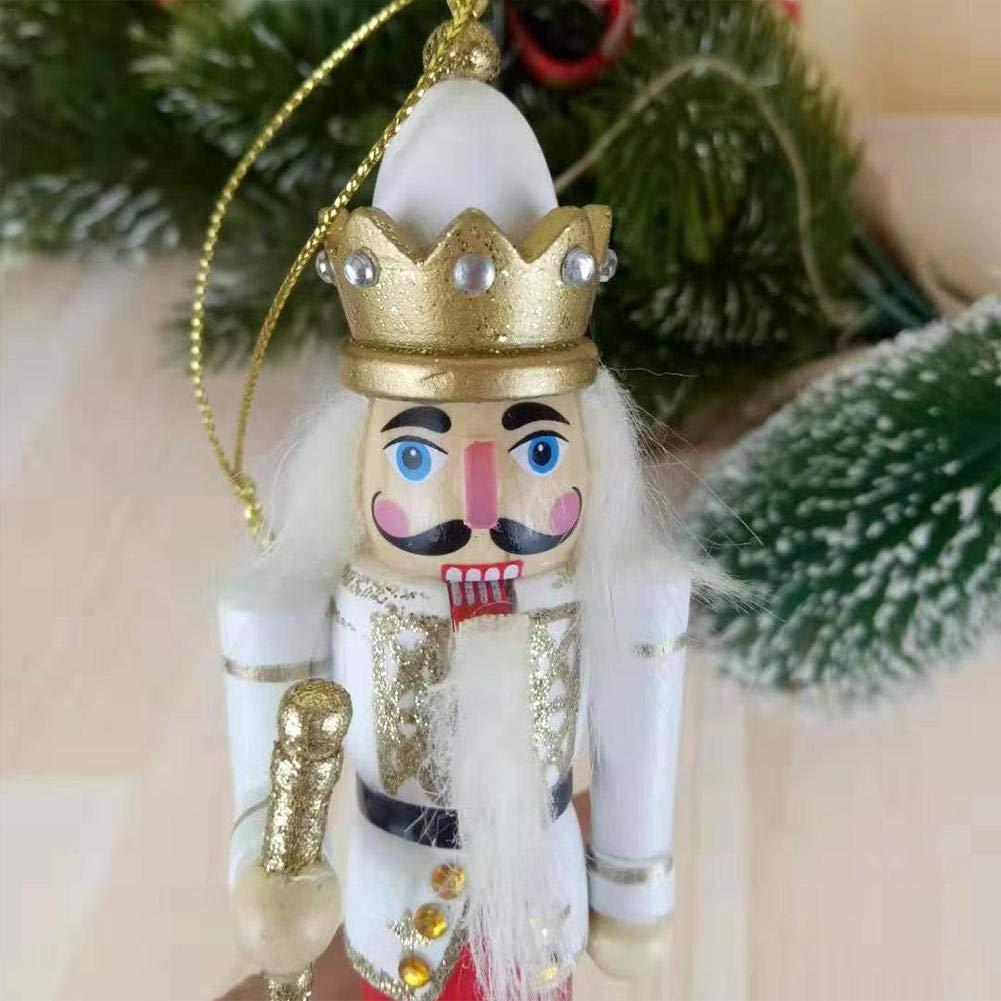 kioski Conjunto de Adornos de Cascanueces de 12 cm Soldado de Cascanueces de Madera Marionetas de Juguete Decoraciones de Adornos Colgantes de Navidad