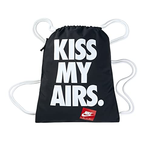 3b97efd16b50 Image Unavailable. Image not available for. Color  Nike Kiss My Airs  Heritage Graphic Gymsack