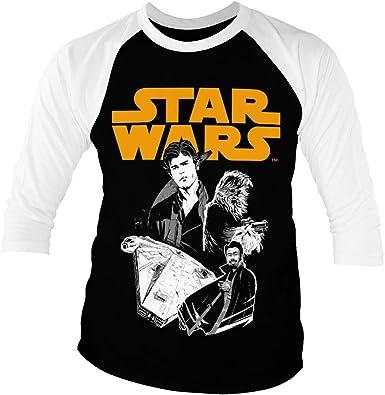 Star Wars Licenciado Oficialmente Solo Baseball Camisa de ...