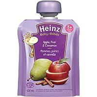 HEINZ Junior - Apple, Pear & Cinnamon Pouch, 6 Pack, 128ML Each