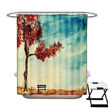 Amazon Com Blountdecor Tree Shower Curtains 3d Digital