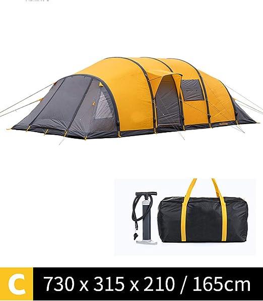 DOLA Impermeable Carpa Grande Acampada, Tienda de Campaña Familiar 8-12 Personas,Oro: Amazon.es: Hogar