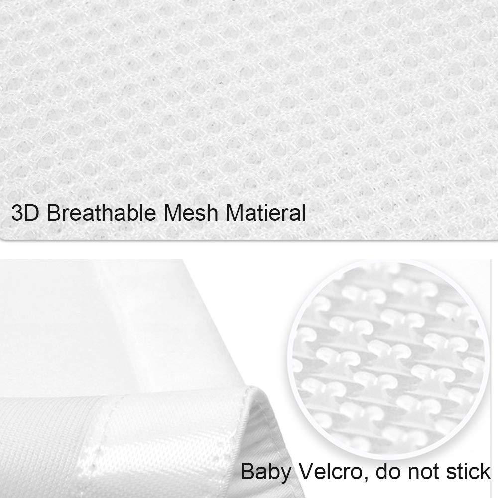Machine Washable Soft Crib Bumper Pads Full Protection Adjustable 3D Breathable Mesh Crib Liner for Standard Cribs Mesh Crib Bumper Blue NIUXUAN Baby Crib Bumper Pads