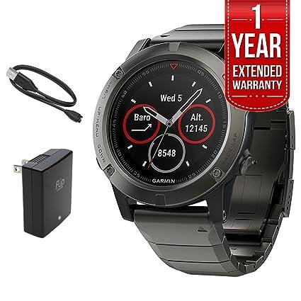 Amazon.com: Garmin Fenix 5X Sapphire Multisport 51mm GPS Watch ... on