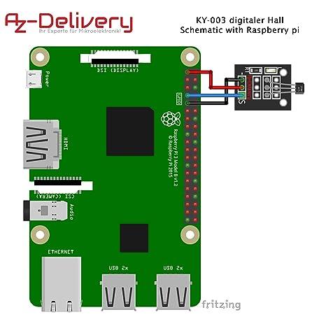 AZDelivery KY-003 digitaler Hall Effekt Sensor Transistor für Arduino