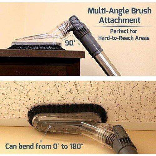 Ovente ST2620R Cyclonic Vacuum Filter Includes Brush, Retractable – Featherlite –