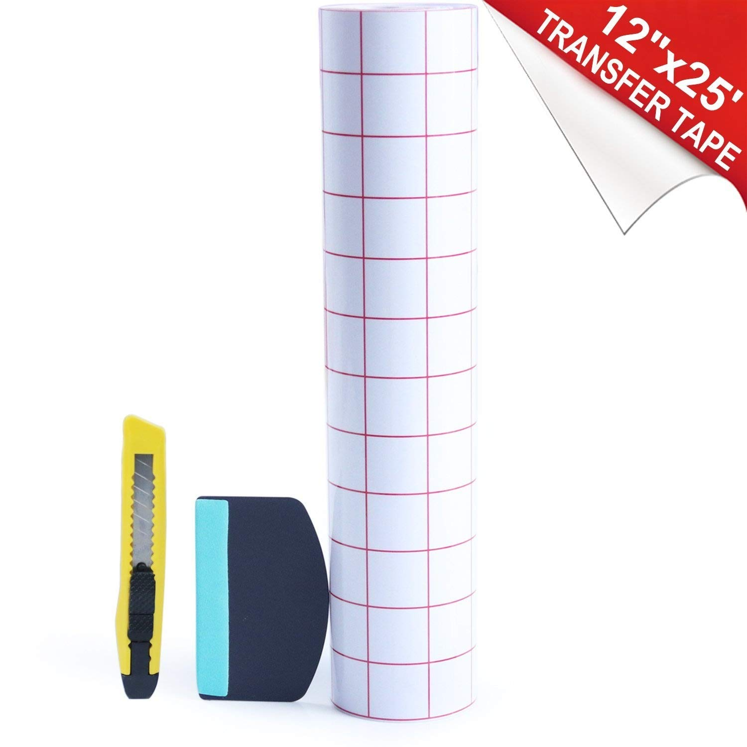 Clear Transfer Paper Tape Roll 12 Inch ×25 Feet BURVAGY 4336883229