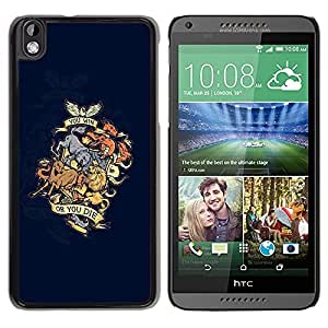 Be Good Phone Accessory // Dura Cáscara cubierta Protectora Caso Carcasa Funda de Protección para HTC DESIRE 816 // You Win Or You Die Animal Dragon Crest