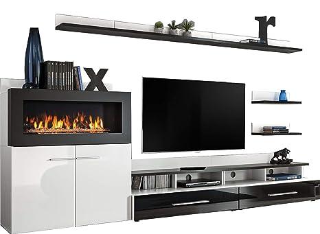 Amazon Com Domadeco Cedar Tv Entertainment Unit Fire Place Modern