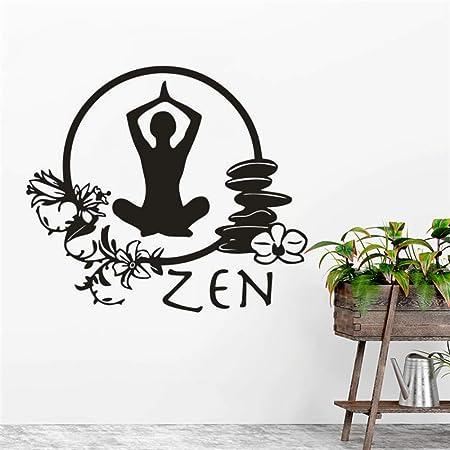 zqyjhkou Zen Yoga Vinilo Pegatinas de Pared Estilo de ...