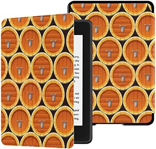 Funda de Tela Kindle Paperwhite Resistente al Agua (10a generación, versión 2018), Caja de Tableta de barriles de Cerveza de Vino de Madera de Patrones sin Fisuras