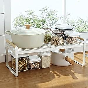 Kitchen Countertop Organizer, Cupboard Stand Spice Rack, Kitchen Cabinet Shelf, Organization and Storage For Kitchen Bathroom