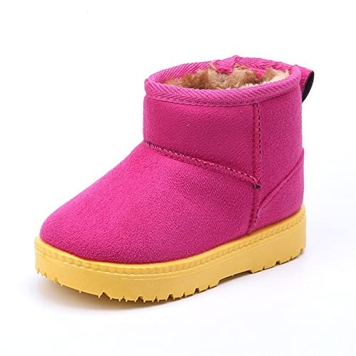 03159f0cc27fd MK MATT KEELY Winter Boots for Girl Princess Soft Warm Shoes Toddler Pink  Snow Boots (