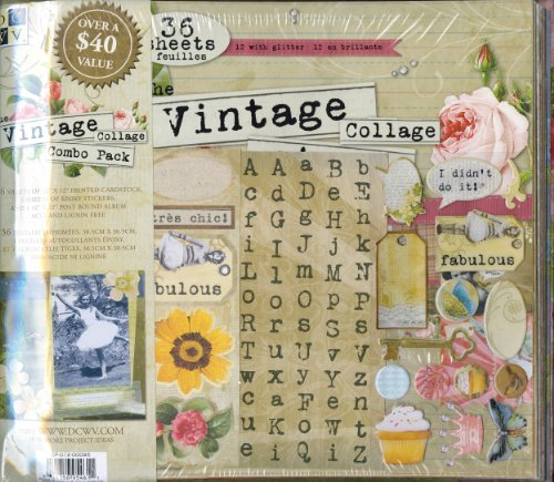 Die Cuts With A View Vintage Album Stack Kit for Scrapbooking