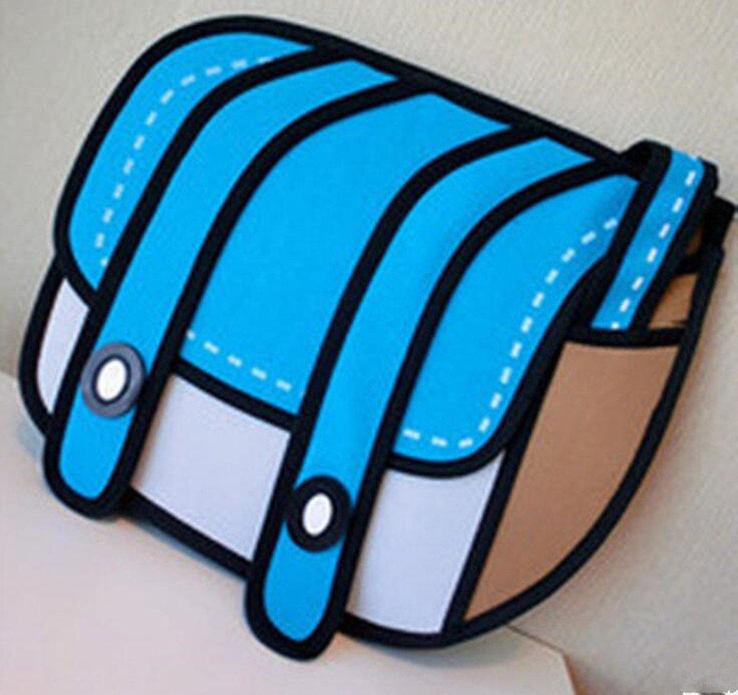 Rose red Xugq66 3D Style 2D Drawing Cartoon Bag Comic 3D Messenger Bag
