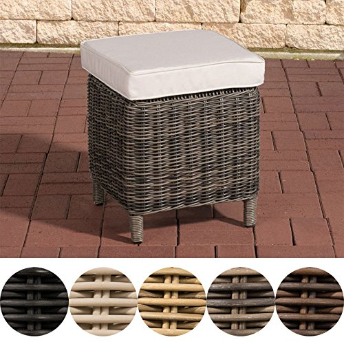clp poly rattan hocker vilato 5 mm rund rattan fu hocker 38 x 38 cm h he 40 cm alu gestell. Black Bedroom Furniture Sets. Home Design Ideas