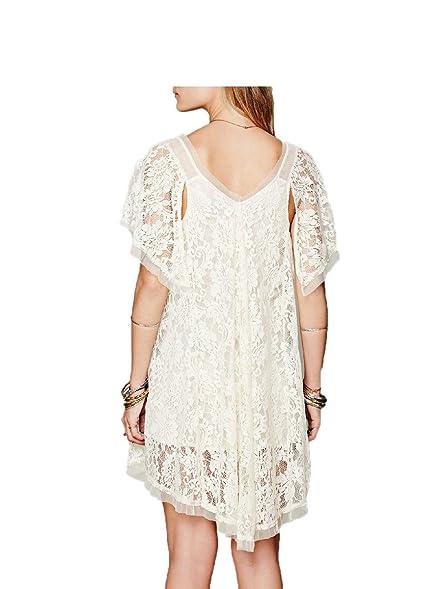 Paule Trevelyan NEW gancho vestido de renda transparente gaze das mulheres da alta moda elegante vestido