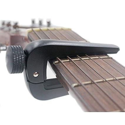 Knob Capo De Alto Grado Balada De Aleación De Zinc Guitarra Clásica Capo Universal para 6