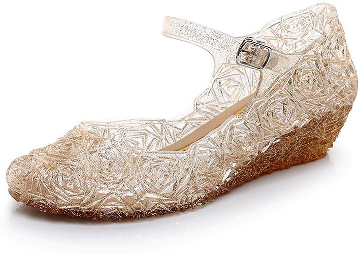 White New Glitter Toddler Buckle Princess Kids Flats Girls Dress Shoes Size 1