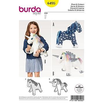 Burda Schnittmuster Crafts 6495 Stofftier Pferd & Einhorn Toys ...