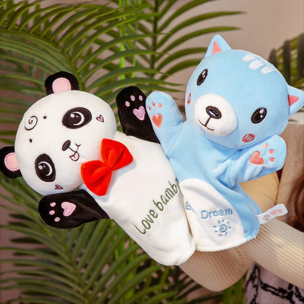 30cm Animal Plush Hand Puppets Childhood Kids Baby Cute Soft Toy Rabbit Cat Tiger Shape Story Pretend Playing Dolls Gift Para Niños D