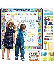 Tobeape® 100 X 100 cm Extra Large Aqua Magic Doodle Mat, Colorful Educational Water Drawing Doodling Mat Coloring Mat for Kids Toddlers Boys Girls Age of 3 4 5 6 7 8