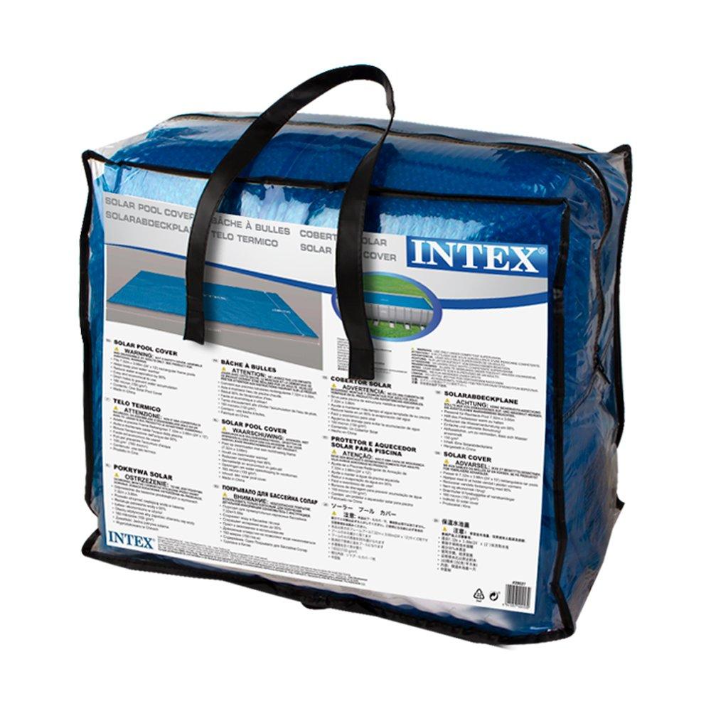 Intex B Che Solaire Pour Piscine Rectangulaire 732 X 366 Cm Bleu