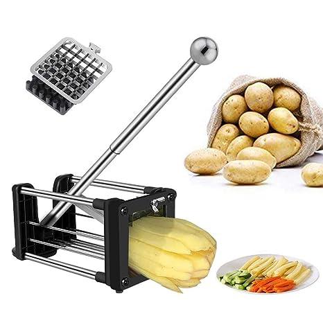 Amazon.com: Cortador de patatas fritas profesional, con ...
