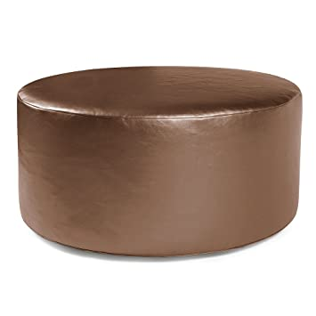 Miraculous Howard Elliott Universal Round Ottoman 36 Inch Luxe Bronze Machost Co Dining Chair Design Ideas Machostcouk