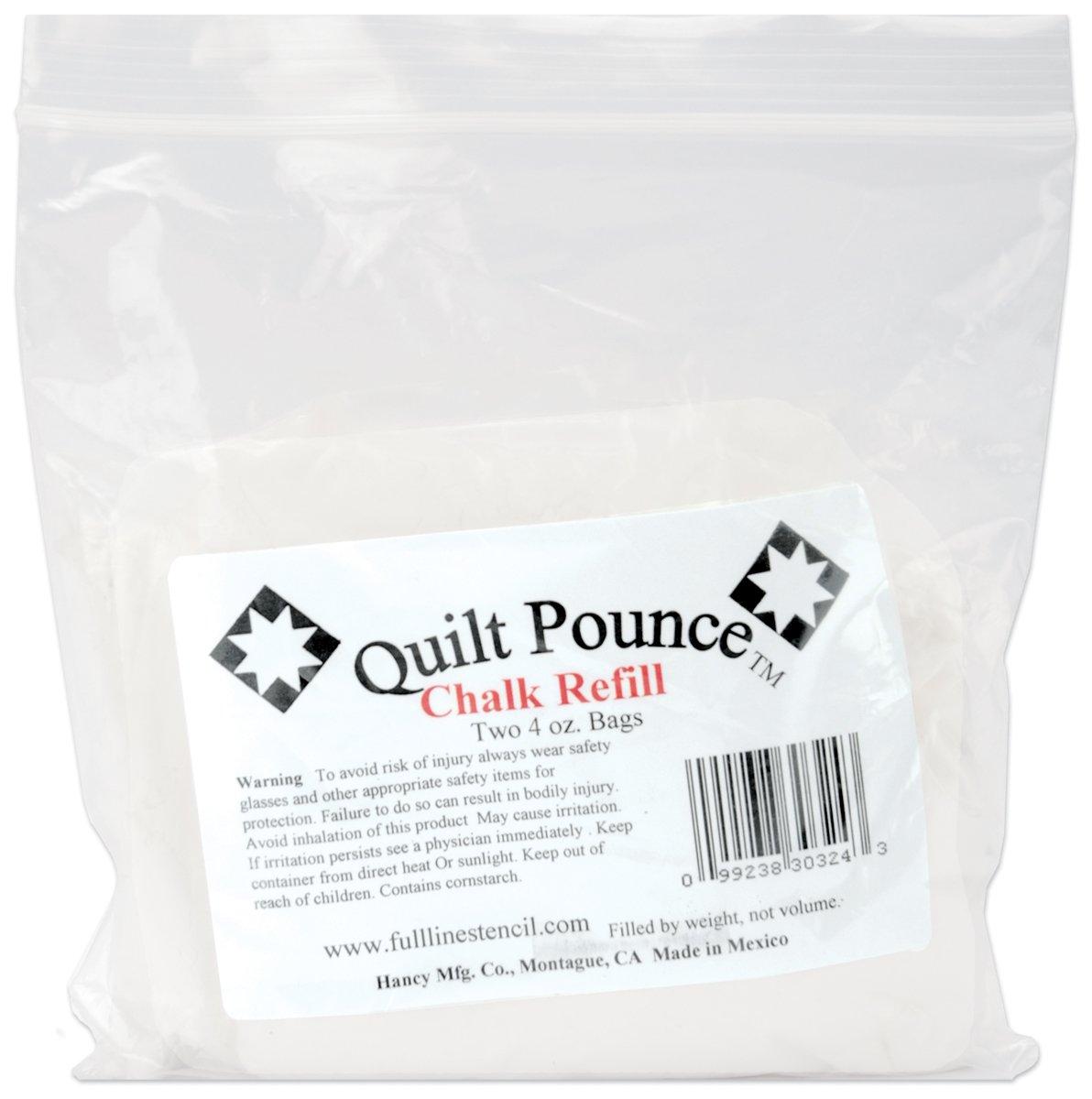 Quilt Pounce Chalk Refill-4 Ounces White
