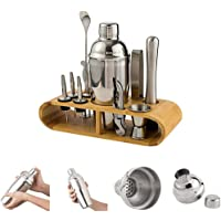 InMalla 12Pcs Cocktail Shaker Set Bartender Kit Bar Tool Set Cocktail Bar Set Kit Stainless Steel Bar Utensils…