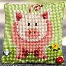 Cross Stitch Cushion: Little Piggy