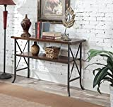 Convenience Concepts Brookline Console Table, Dark Walnut Review