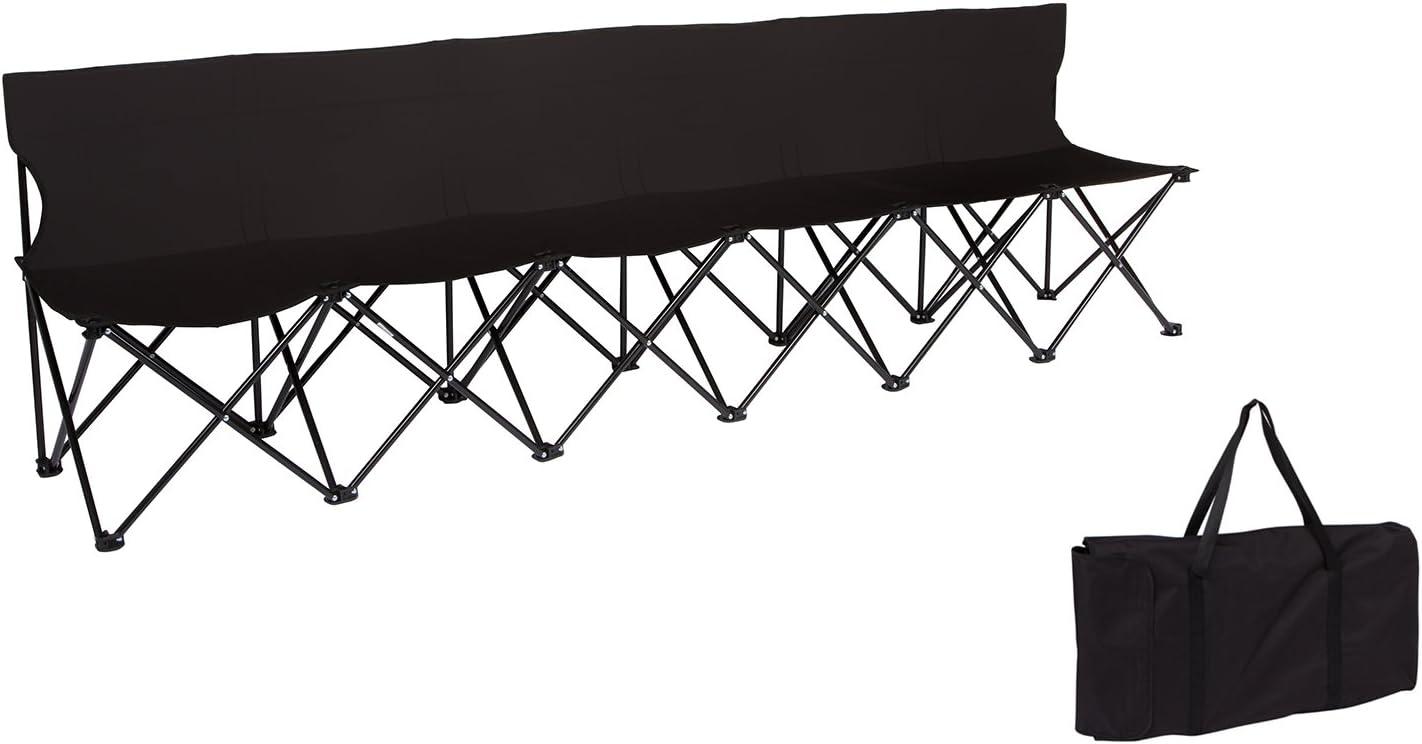 6 Seats Folding Football Subs Bench Portable Outdoor Team Pro Bench