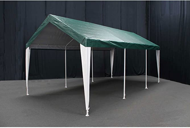 Amazon Com King Canopy Hercules Canopy With Cover Green White Cover 10 X 20 Garden Outdoor