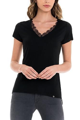 SALSA Camiseta básica con encaje