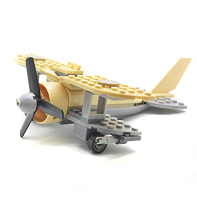 koolfigure Custom WW2 Albatross Reconnaissance Aircraft Military Building Blocks Set, The German Armored Forces Bricks Toy Set 126PCS: Toys & Games