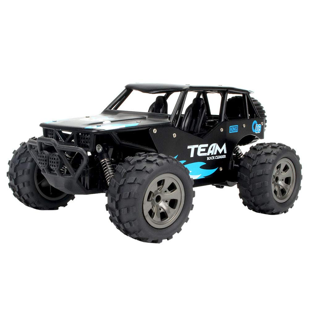Choosebuy 1:18 Off-Road Remote Control Racing Car, Cool 2WD High Speed Durable RC Tracked Cars Toys with 2.4GHz Technology for Indoors/Outdoors, Best Gift for Christmas Birthday (Black)