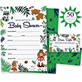 Woodland Baby Shower Invitations & Diaper Raffle Game...