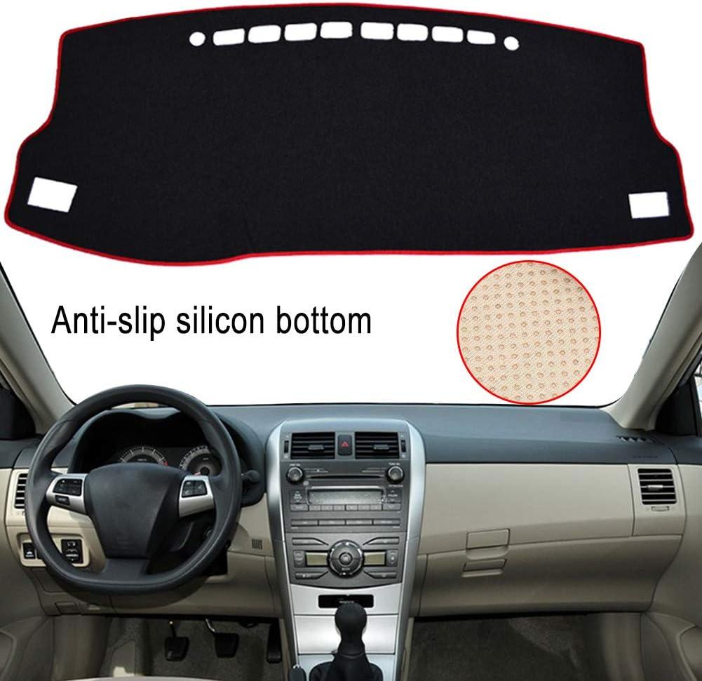 Black Edge Clidr Non-Slip Dash Mat Dashboard Cover for Toyota Corolla 2014 2015 2016 2017 2018