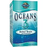 Garden of Life Ultra Pure EPA/DHA Omega 3 Fish Oil - Oceans 3 Better Brain Supplement with Antioxidants, 90 Softgels