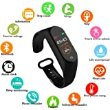 SBA999 ABM405 M4 Bluetooth Wireless Smart Fitness Band for Boys/Men/Kids/Women | Sports Watch Compatible with Xiaomi, Oppo, Vivo Mobile Phone | Heart Rate and BP Monitor, Calories Counter