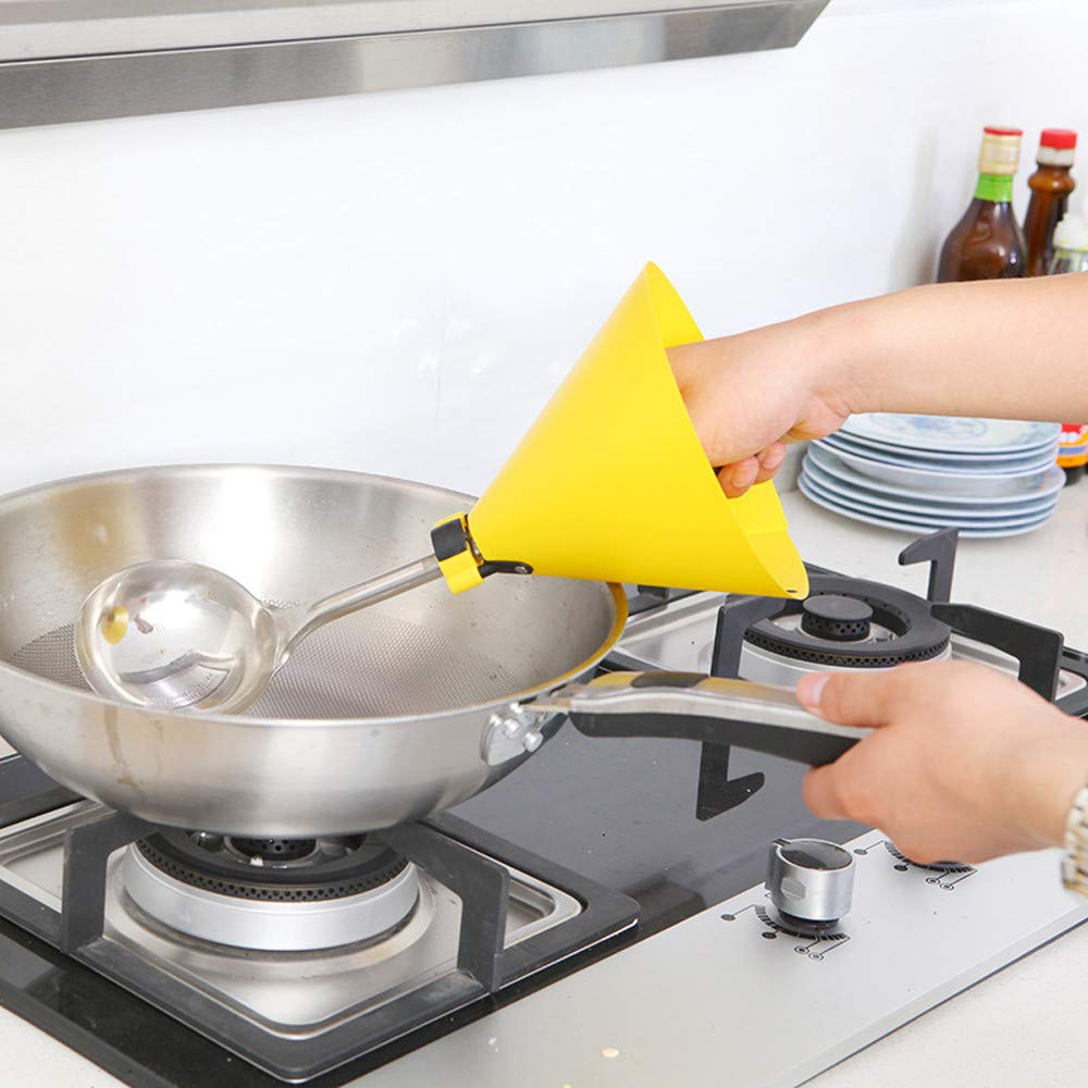 Franterd Anti Oil Splashing Spatula Cover Proof Gloves Hand Protector Shield Slice Splatter Screen Kitchenware Detachable Cooking Tool Splash Cover Cooking Tool (Yellow)