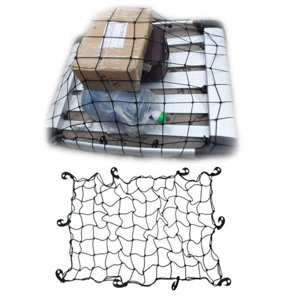 Voiture de Bagages de Filet de Rangement 120/* 80/cm Crossbar de Voiture Toit Fixe Net Lamptti Filet de Voiture Universel avec Crochets