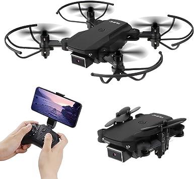 Opinión sobre Mini Drone plegable con Doble Cámara 4K WIFI FPV Quadcopter de 2.4 GHz con cámara HD1080P para principiantes adultos de niños (Control de voz, Control de altitud, Balanceo de 360°, Modo sin cabeza)