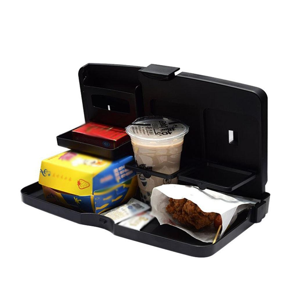 MQYH@ Multipurpose Car Tray - Car Seat Activity & Snack Tray for A More Convenient Time in Your Car Black