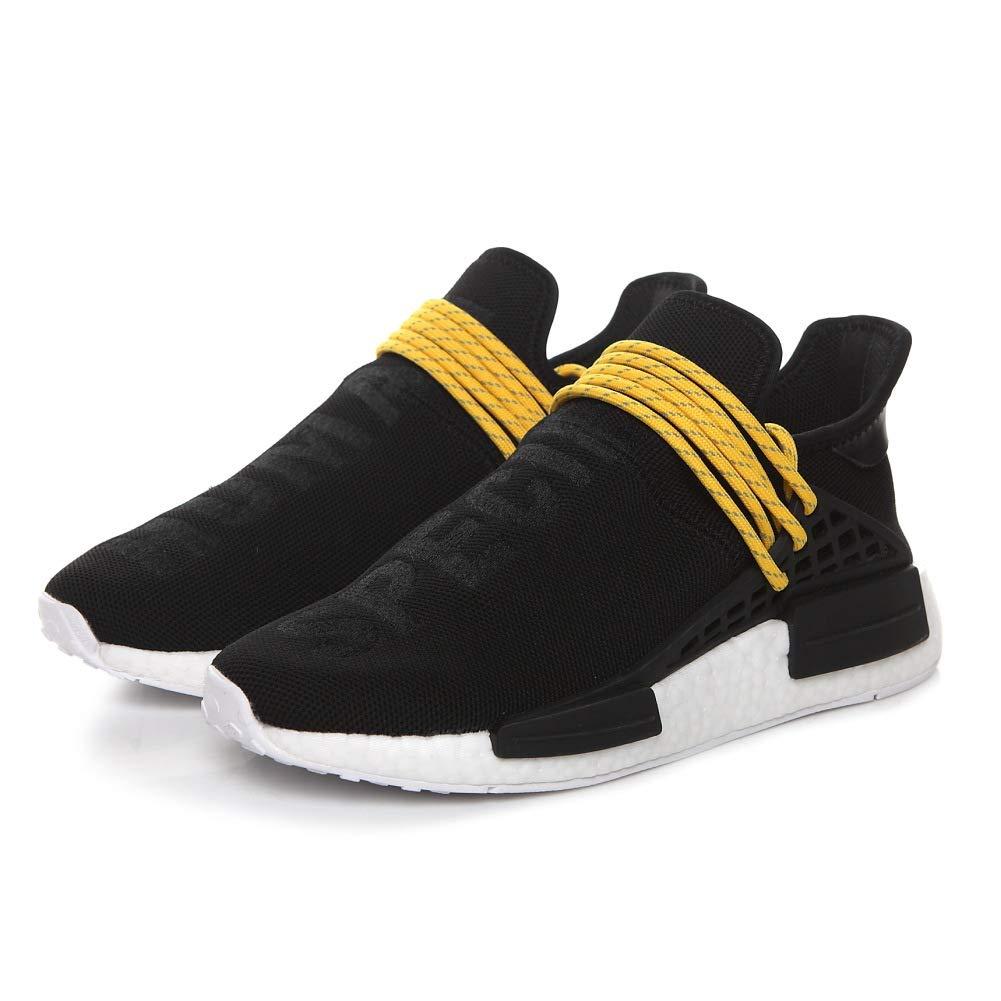Noir et Jaune 39 1 3 EU Huhomme Race NMD Trail Pharrell Williams SungFaible Hommes Femmes Training chaussures FonctionneHommest Gym paniers