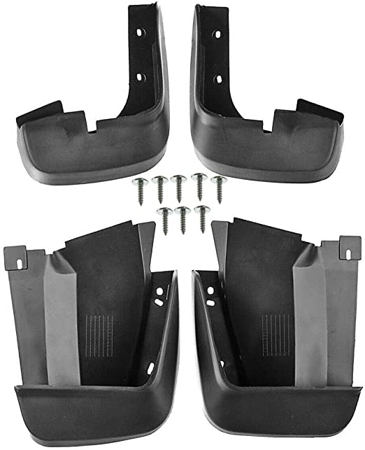 Set of 4 Front and Rear Mud Flaps Splash Guards for Honda Civic 2006-2011 Sedan YTAUTOPARTS